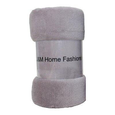 Solid Plush Fleece Throw Color: Zinc