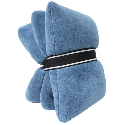 2 Piece Solid Coral Fleece Pillow and Throw Set Color: Copen Blue