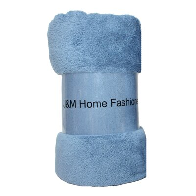 Solid Plush Fleece Throw Color: Copen Blue