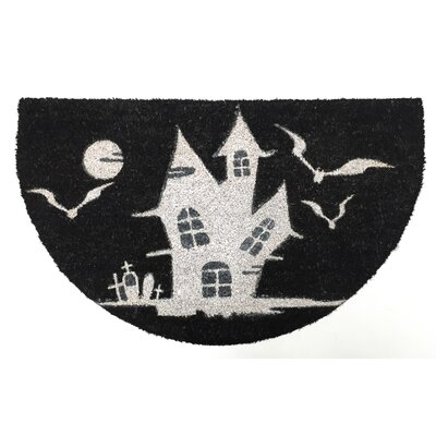 Halloween Haunted House Diecut Doormat