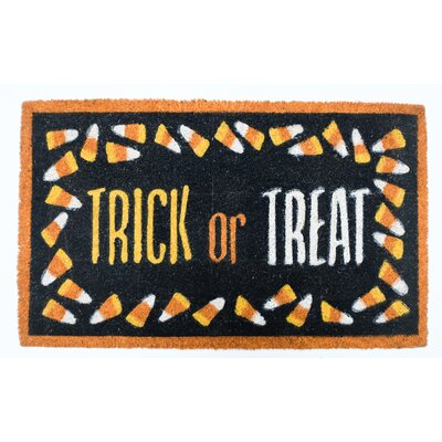 Halloween Trick or Treat Doormat