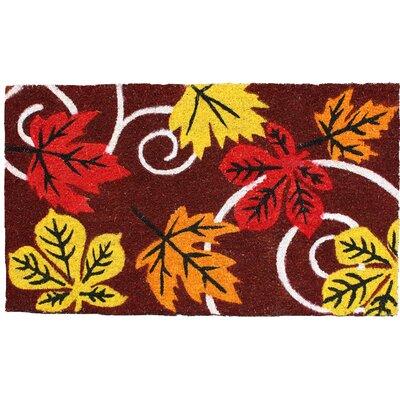 Harvest Leaves and Swirls Doormat