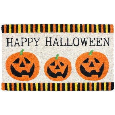 Halloween 3 Pumpkins Doormat