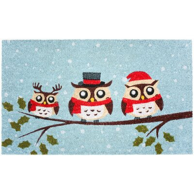 Holiday Three Owls Coco Doormat
