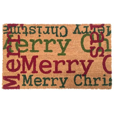 Merry Christmas Type Coco Doormat