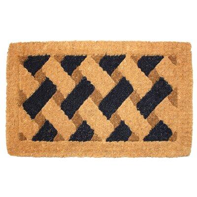 Black Accent Doormat
