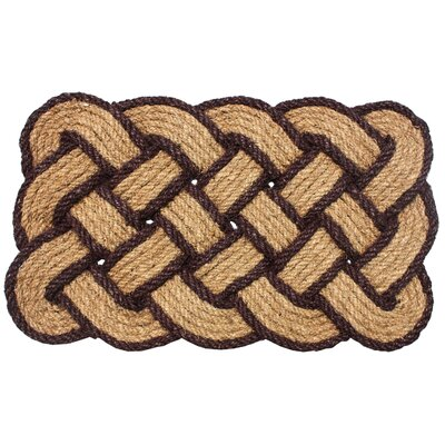 Lovers Knot Doormat Color: Dark Brown