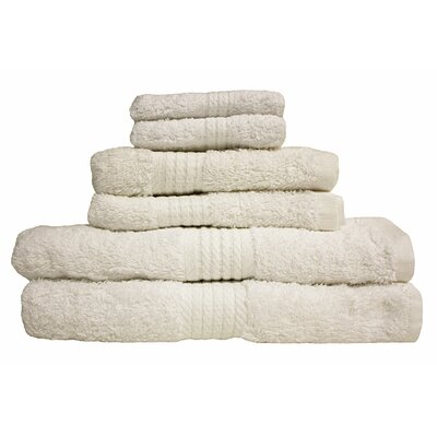 Provence 6 Piece Towel Set Color: White