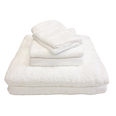 Portofino 6 Piece Towel Set Color: White