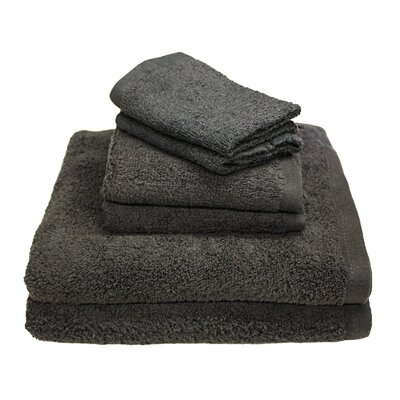 Portofino 6 Piece Towel Set Color: Dark Gray