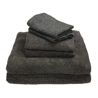 Portofino 6 Piece Towel Set Color: Dark Gray
