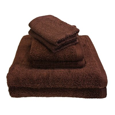 Portofino 6 Piece Towel Set Color: Coffee