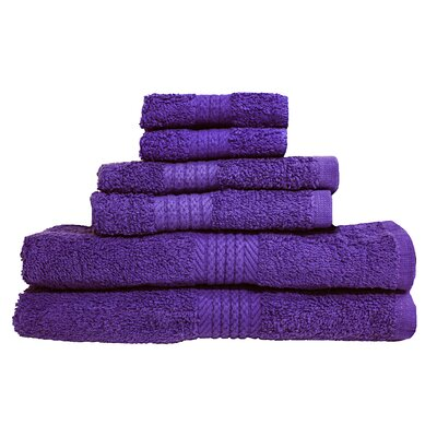 Provence 6 Piece Towel Set Color: Purple