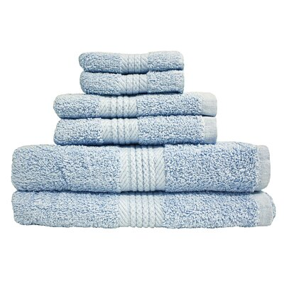 Provence 6 Piece Towel Set Color: Sky Blue