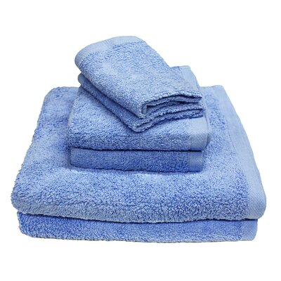 Portofino 6 Piece Towel Set Color: Ocean Blue