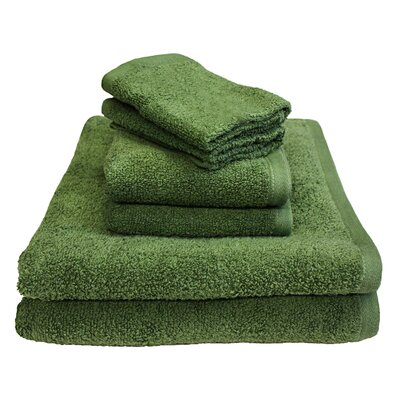 Portofino 6 Piece Towel Set Color: Thyme