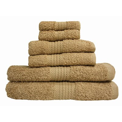 Provence 6 Piece Towel Set Color: Linen