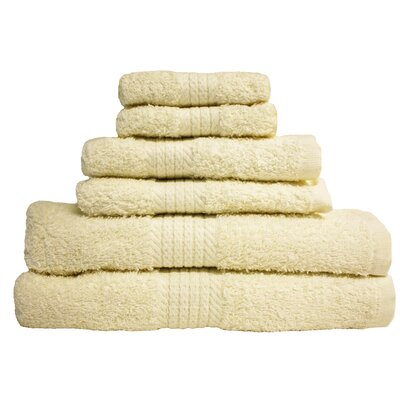 Provence 6 Piece Towel Set Color: Natural