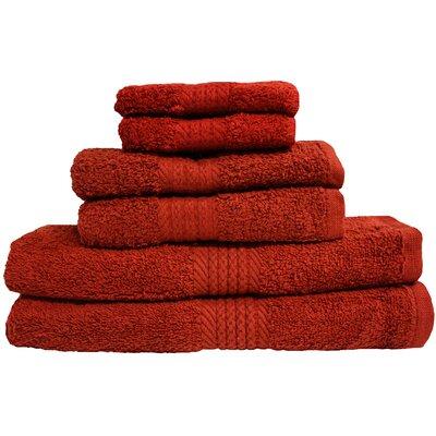 Provence 6 Piece Towel Set Color: Paprika