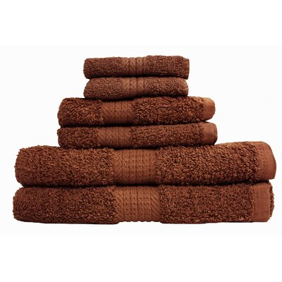 Provence 6 Piece Towel Set Color: Chocolate