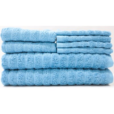 Adriatic 8 Piece Towel Set Color: Storm Blue