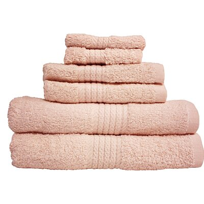 Provence 6 Piece Towel Set Color: Pink