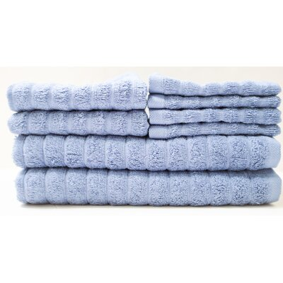 Adriatic 8 Piece Towel Set Color: China Blue