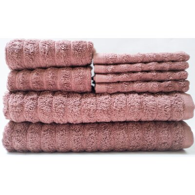Adriatic 8 Piece Towel Set Color: Pinecone