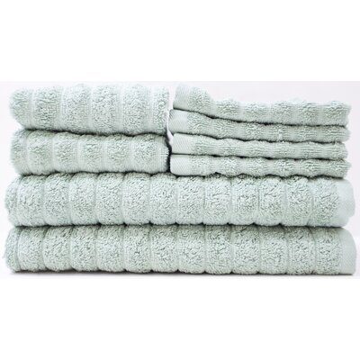 Adriatic 8 Piece Towel Set Color: Hedge Green
