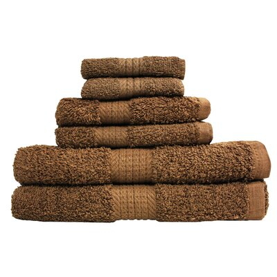 Provence 6 Piece Towel Set Color: Sable