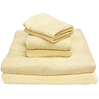 Portofino 6 Piece Towel Set Color: Creme