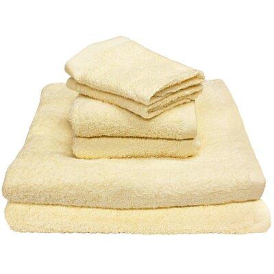 Portofino 6 Piece Towel Set Color: Creme