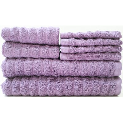 Adriatic 8 Piece Towel Set Color: Sweet Grapes