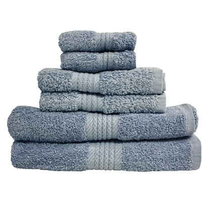 Provence 6 Piece Towel Set Color: Smoke Blue
