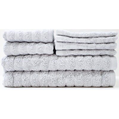 Adriatic 8 Piece Towel Set Color: Paloma