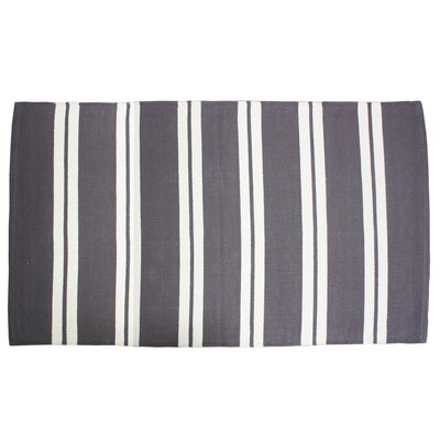 Double Cabana Stripe Doormat Color: Dark Gray