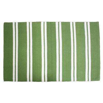 Double Cabana Stripe Doormat Color: Green