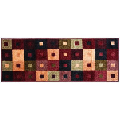 Square Woven Kitchen Mat Rug Size: 110 x 5