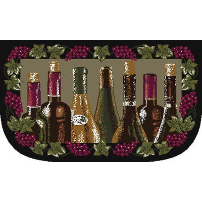 Wine Bottle Slice Kitchen Mat