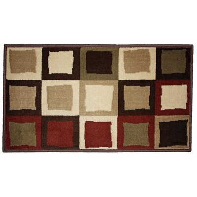 Buffalo Border Woven Kitchen Mat Rug Size: 111 x 3