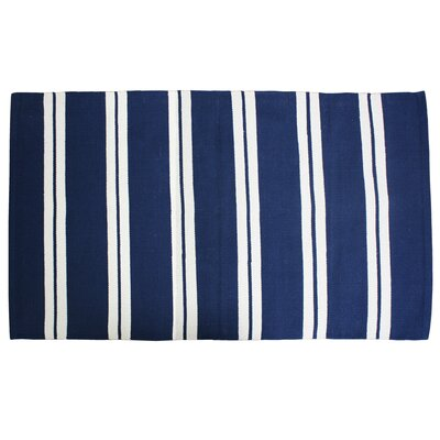 Double Cabana Stripe Doormat Color: Navy Blue