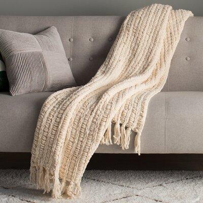 Luxury Chenille Throw Blanket Color: Cream