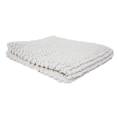 Marcie Popcorn Bath Rug Color: White