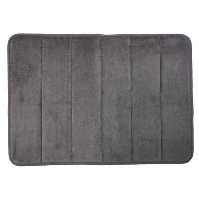 Taylor Memory Foam Bath Rug Color: Gray