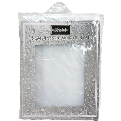 Solid Vinyl Shower Curtain Color: Clear