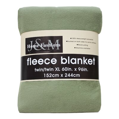 Polar Fleece Blanket Color: Oil Green, Size: Full/Queen