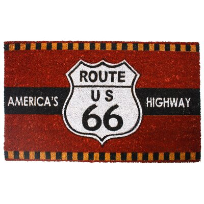 Koah Highway Route 66 Coco Doormat