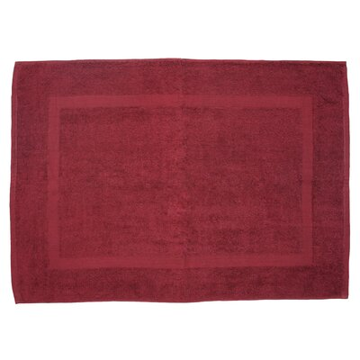 Amie Bath Rug Color: Cabernet