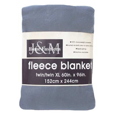 Polar Fleece Blanket Size: Twin/Twin XL, Color: Copen Blue