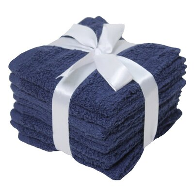 Heise Zero Twist Washcloth Towel Set Color: Pilot Blue